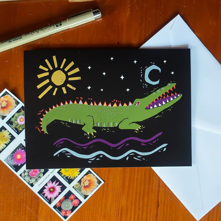 Gator Greeting Card