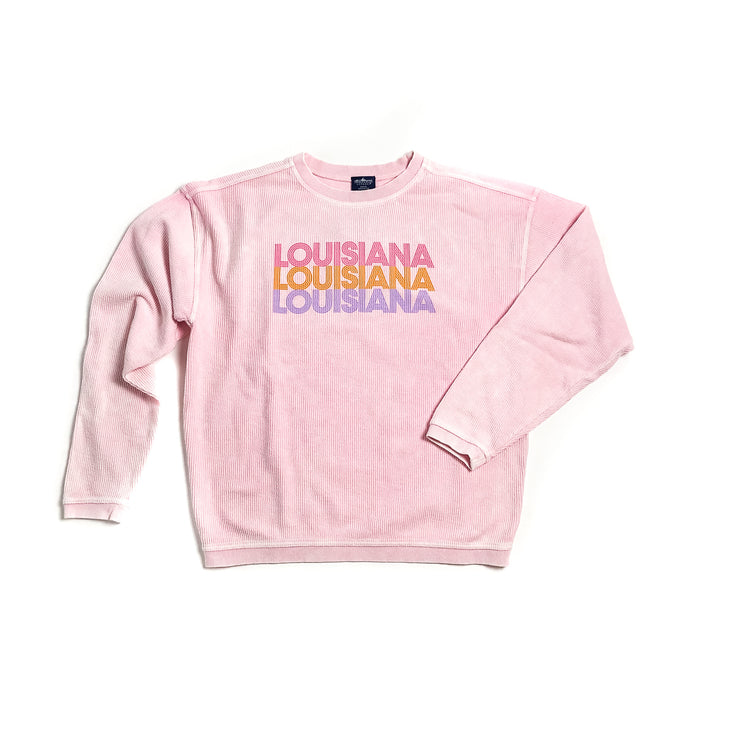 Louisiana Inline Cozy Corded Sweatshirt