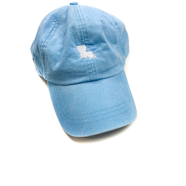 Baby Blue Louisiana State Hat