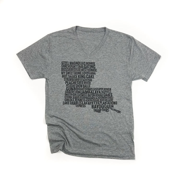State Pride©  Louisiana Map T-Shirt