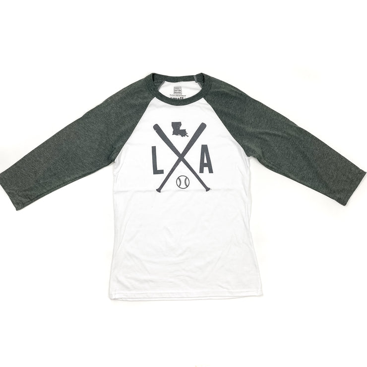 Louisiana Baseball Raglan