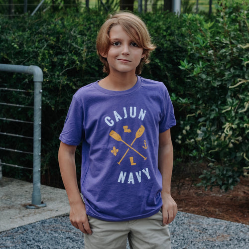 Children's Youth Cajun Navy | Louisiana Strong | Purple