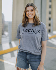 Locals Supporting Locals T-Shirt Heather Grey