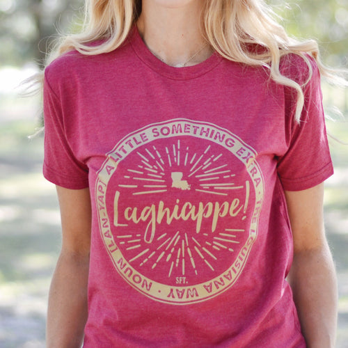 Lagniappe The Louisiana Way© Maroon Crew Neck