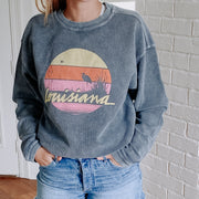 Louisiana Sunset Cozy Corded Sweatshirt