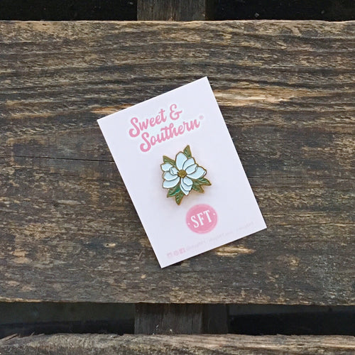 Southern Magnolia Enamel Pin | Sweet and Southern | by SFT