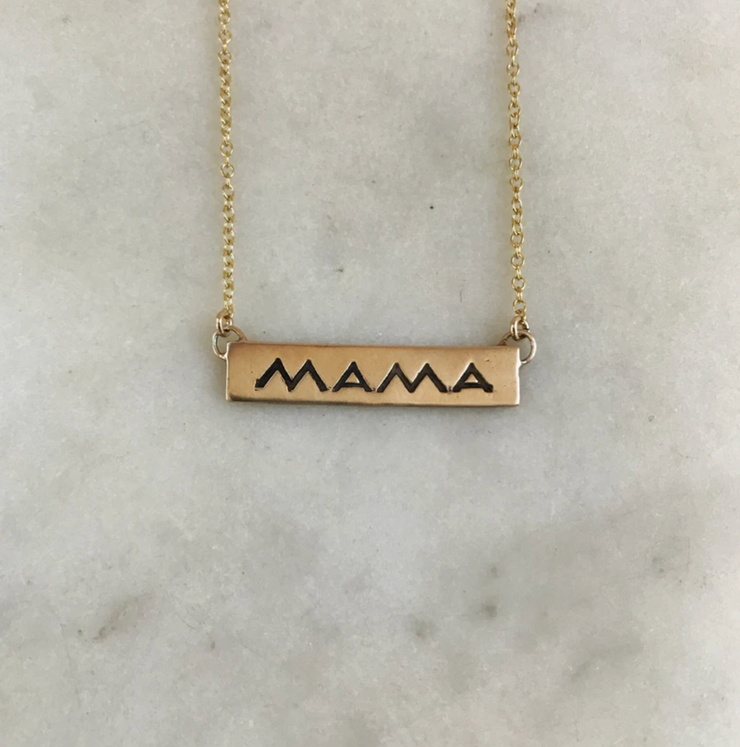 Mimosa Handcrafted Bronze Mama Necklace