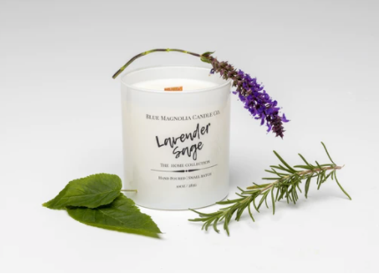 Lavender Sage Wooden Wick Candle