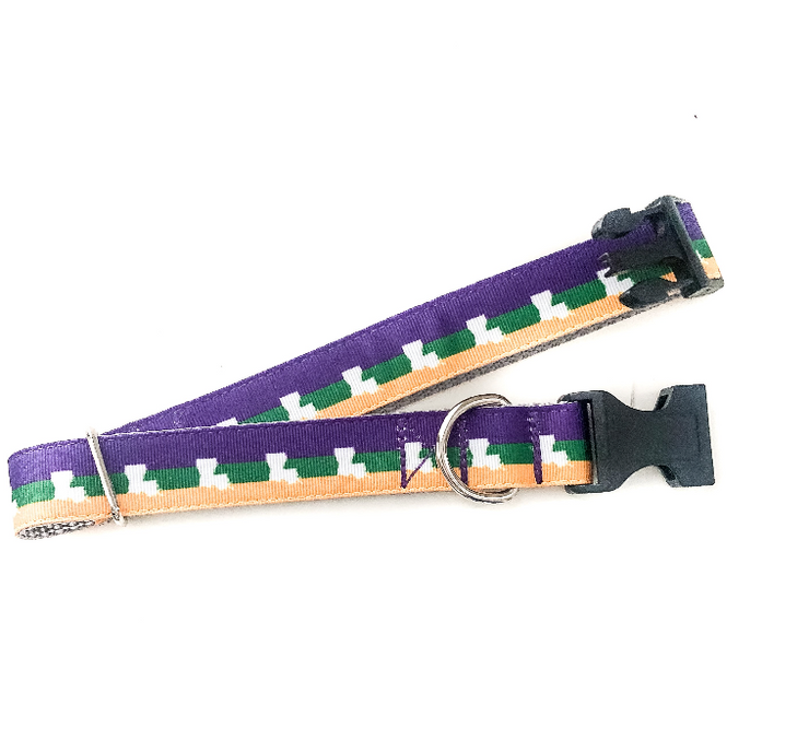 Louisiana Mardi Gras Pet Collar