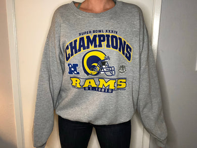 2000 St Louis Rams Super Bowl Champs - L/XL - Rad Max Vintage