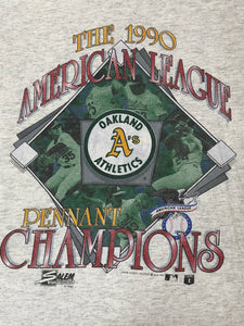 1990 Oakland A's American League Champs - XL - Rad Max Vintage