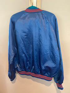 Vintage Buffalo Bills Chalk Line Satin Bomber Jacket - XL