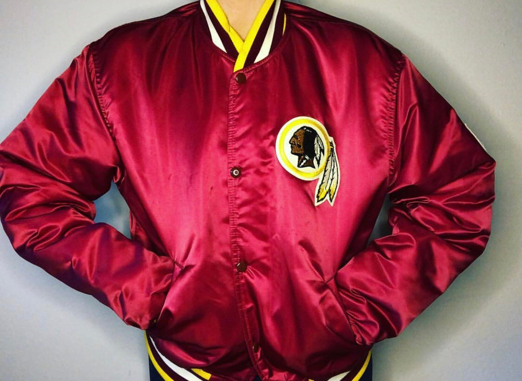 Washington Redskins Starter Satin Bomber - L - Rad Max Vintage