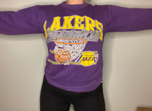 Load image into Gallery viewer, Vintage late 80s-early 90s Los Angeles LA Lakers Crew - S
