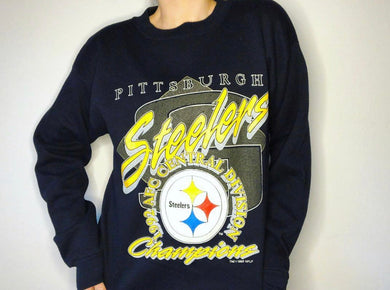 1992 Pittsburgh Steelers AFC Central Champs - L - Rad Max Vintage