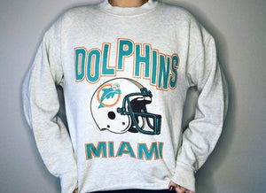 Miami Dolphins early 90s Crew - M - Rad Max Vintage