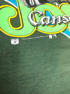 Vintage 1990 Oakland A's Athletics Jose Canseco TSHIRT - S