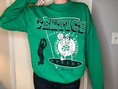 Boston Celtics early 90s Crew - L - Rad Max Vintage