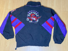 Load image into Gallery viewer, Vintage 1994 Toronto Raptors 1/4 Zip Pullover Anorak Puffer Jacket from STARTER - Youth L/XL / Adult XS/S