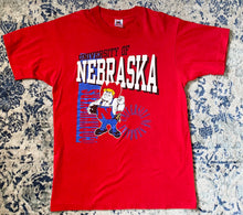 Load image into Gallery viewer, Vintage 1974-1991 University of Nebraska Cornhuskers Old Logo TSHIRT - M
