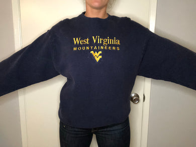 WVU West Virginia University Crew - L - Rad Max Vintage