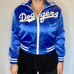 Vintage 1980s Los Angeles LA Dodgers Satin Bomber Jacket - Youth Large / Adult XS