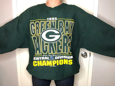 1995 Green Bay Packers Central Div Champs - XL - Rad Max Vintage