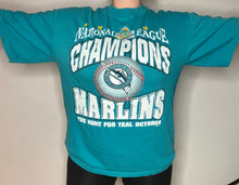 Load image into Gallery viewer, Vintage 1997 Florida Marlins National League Champions TSHIRT - L