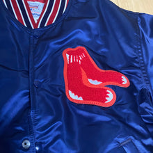 Load image into Gallery viewer, Vintage 1980s Boston Red Sox Satin Bomber STARTER JACKET - Large & XL Available!
