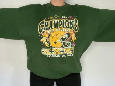 Vintage 1997 Green Bay Packers Super Bowl XXXI Champions Crew - XXL