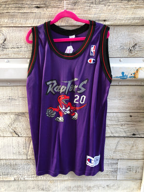 Vintage 1995-1998 Toronto Raptors Damon Stoudemire #20 JERSEY - Youth XL / Adult Small