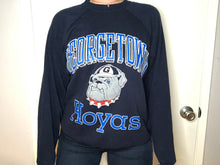 Load image into Gallery viewer, Vintage 1980s Georgetown University Hoyas Navy Crew - M