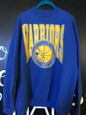 Vintage 1990 Golden State Warriors GSW Old Logo Crew - XL
