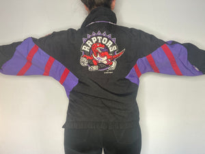 Vintage 1994 Toronto Raptors 1/4 Zip Pullover Anorak Puffer Jacket from STARTER - Youth L/XL / Adult XS/S