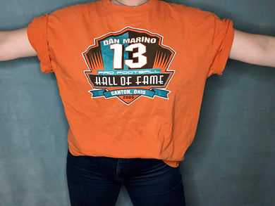 Miami Dolphins 2005 Dan Marino Football Hall of Game TSHIRT - XL