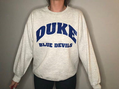 Vintage Duke University Blue Devils Crewneck - L