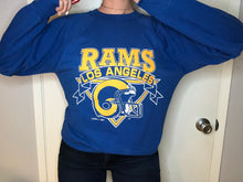 Load image into Gallery viewer, Vintage 80s / 90s Los Angeles Rams Crew - L