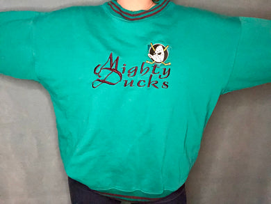 Vintage TEAL Mighty Ducks of Anaheim Crew - XL / XXL