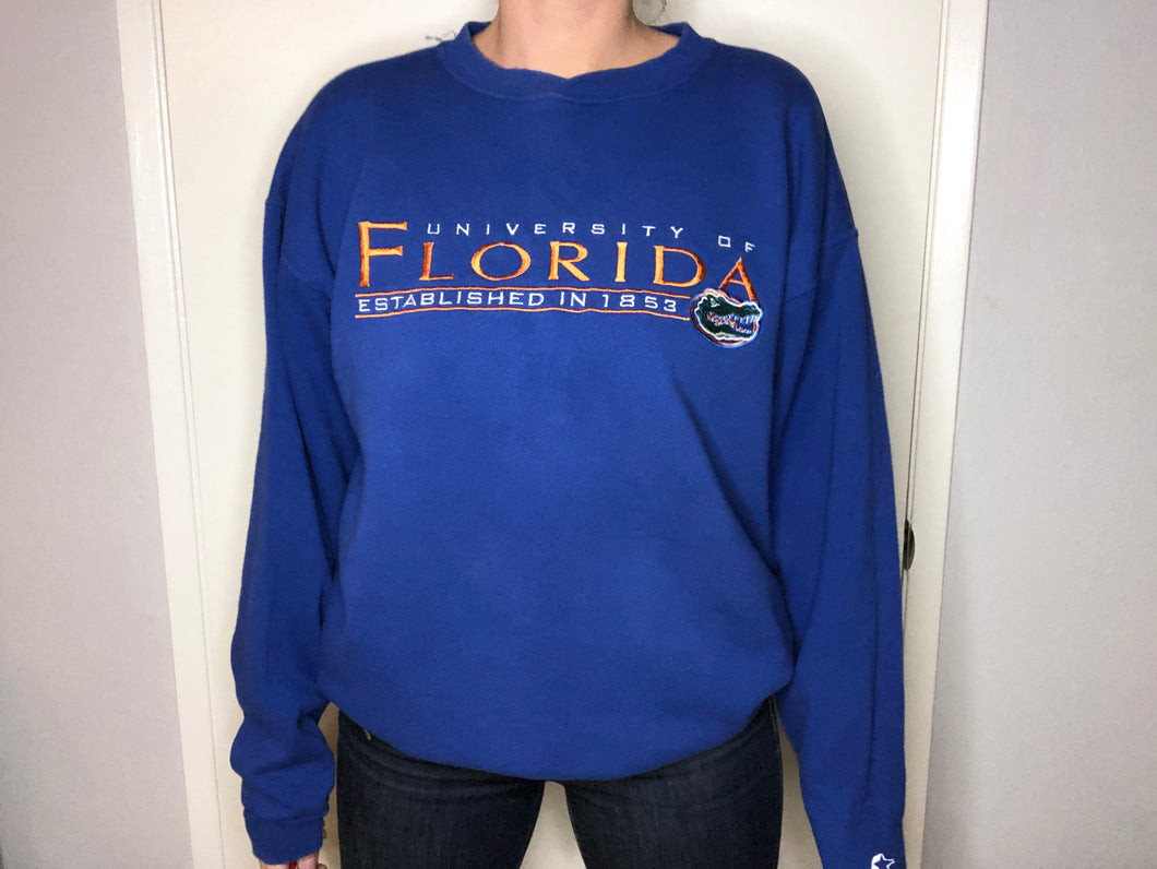 U of Florida Gators Starter Crewneck - XL - Rad Max Vintage