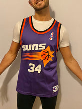 Load image into Gallery viewer, Vintage 1990s Phoenix Suns x Charles Barkley #34 Champion JERSEY - Size 40 / Adult S/M