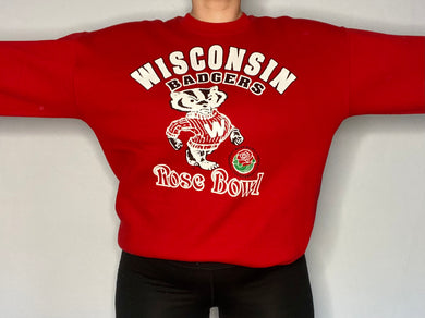 Vintage 1994 University of Wisconsin Badgers Rose Bowl Crew - L