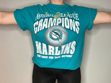 Vintage 1997 Florida Marlins National League Champions TSHIRT - L