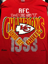 Load image into Gallery viewer, Vintage 1993 Kansas City Chiefs AFC West Champs TSHIRT - XL