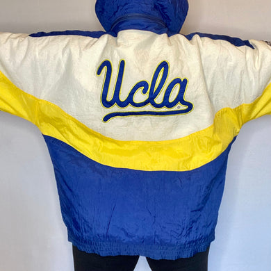Vintage 1990s UCLA University of California Los Angeles Apex One Full Zip Puffer Jacket - XL