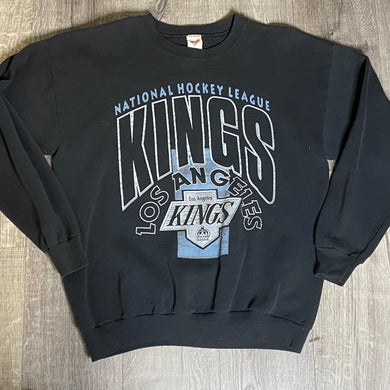 Vintage Early 90s Los Angeles LA Kings Old Chevy Logo Crew - L