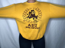 Load image into Gallery viewer, Vintage 1980s Arizona State University Sun Devils Crew with Signatures - M
