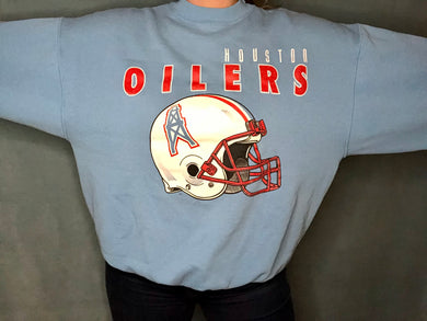 Vintage Houston Oilers Crew - XXL