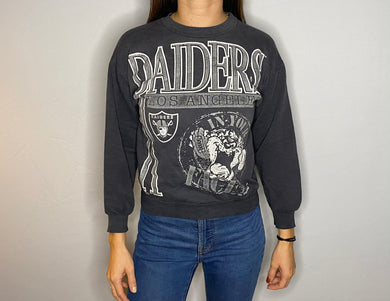 Vintage 1990s Los Angeles LA Raiders x Tasmanian Devil Crew - Youth Small/Medium  / Adult XS
