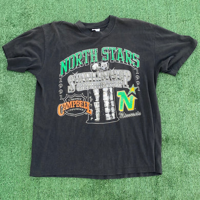 Vintage 1991 Minnesota North Stars Stanley Cup Championship Campbell Conference TSHIRT - M