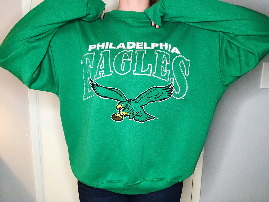 Philadelphia Eagles Crew from 1987-1995 - XL - Rad Max Vintage
